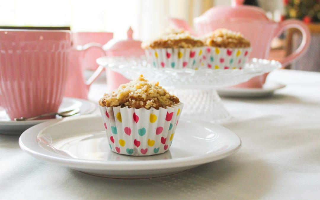 Receta de muffins de manzana y crumble