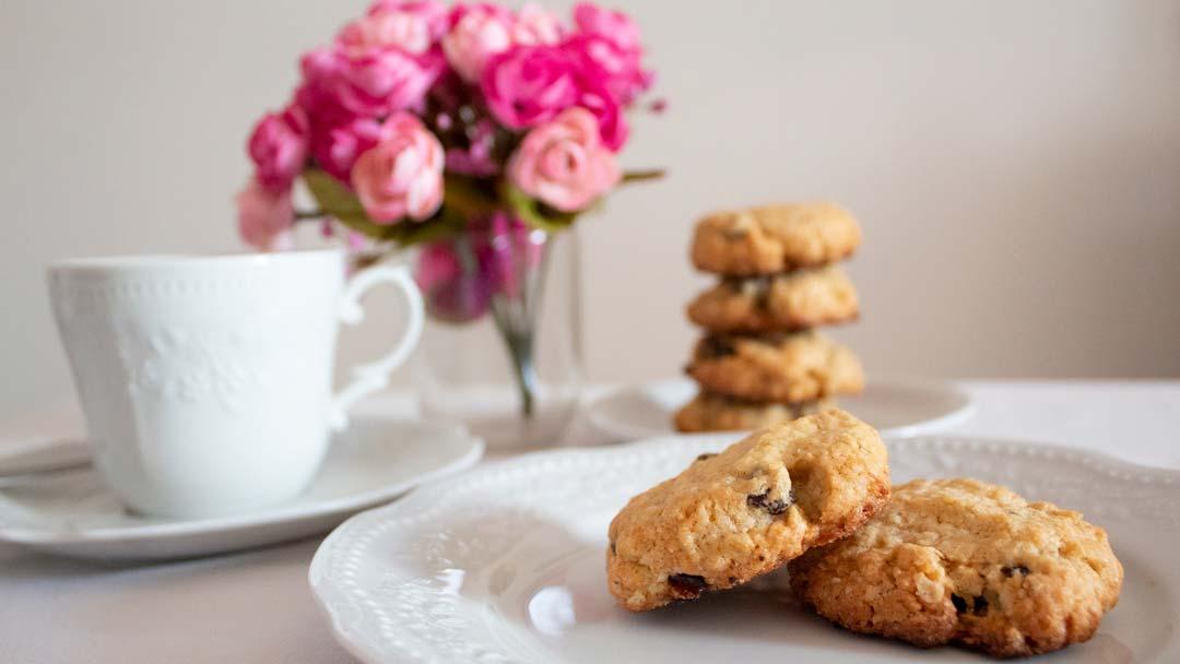 receta de cookies con avena y pasas