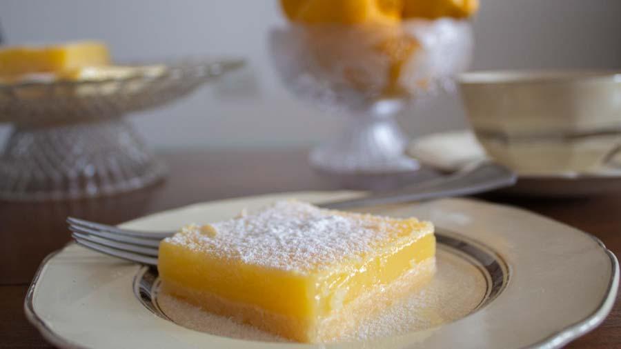 receta de cuadrados de limon