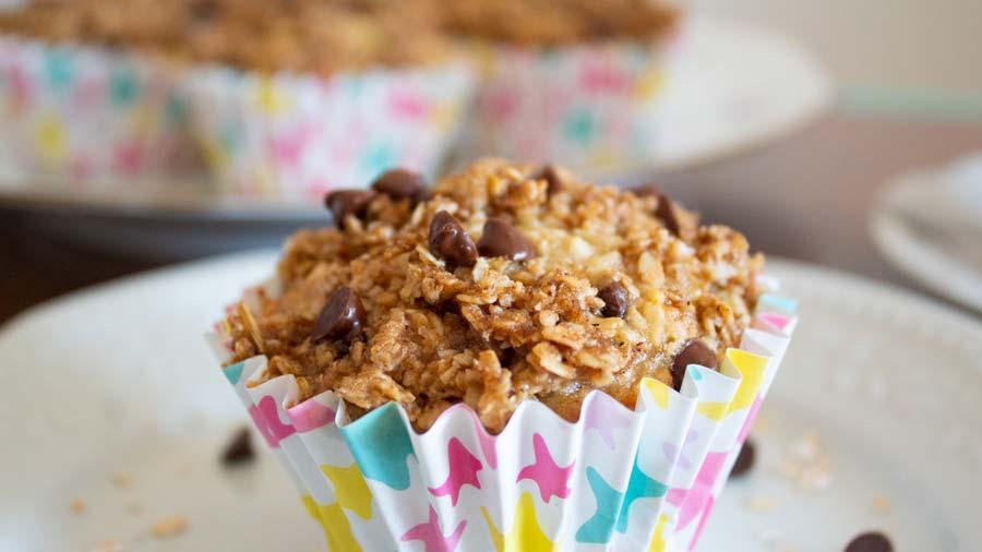 Muffins de avena y banana