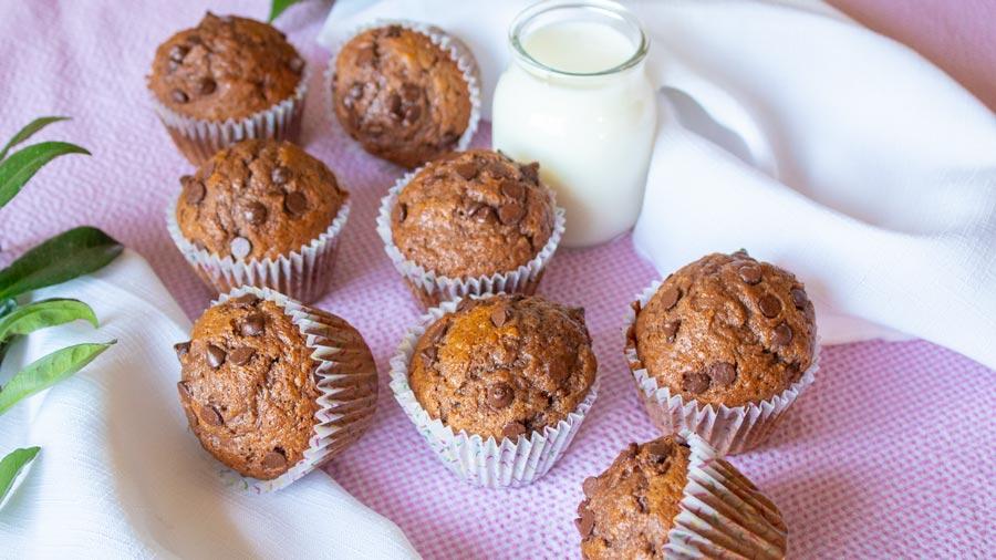 Muffins de chocolate y banana